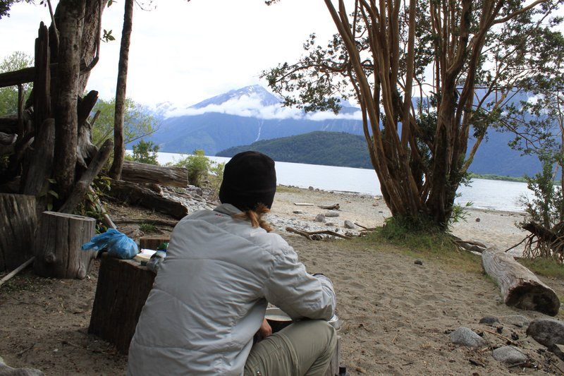 sitting at lago