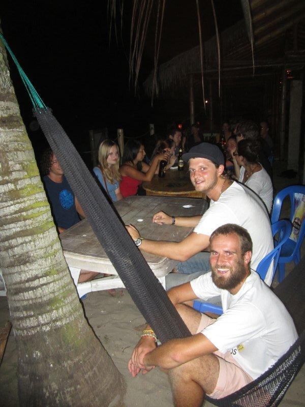 Group dinner on the beach