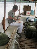 Preparing our bait. MMM Beef