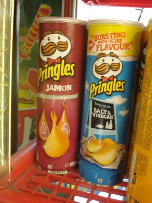 Spaniards love ham so much that Pringles successfully sells Ham flavored chips.  We passed.