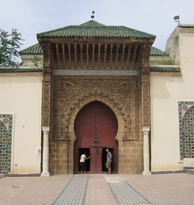 Entering the Royal Palace, Meknes, Morocco