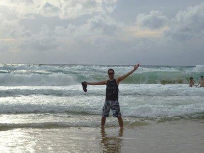 Gareth on the beach!