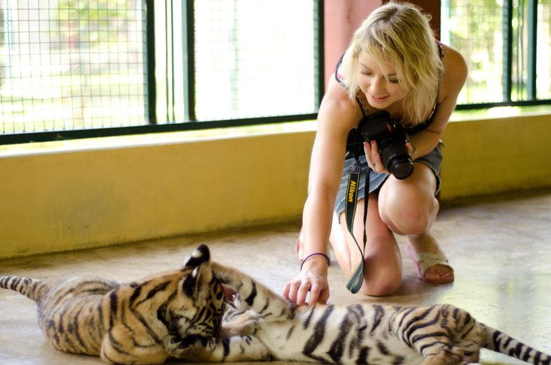 me with the tiger cubs