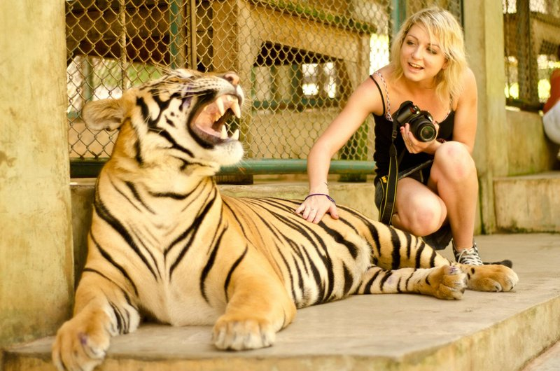 Me and the BIG tigers!