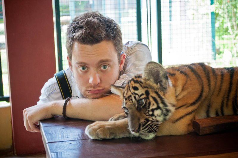 Gareth and the tiger cubs