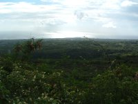 View from Prentiss' gravemarker, Saddle Hill, Nevis, West Indies -- easy hike up gravel road