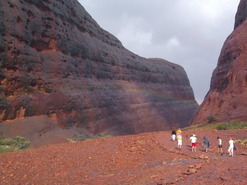 Rainbow at Walpa Gorge, Kata Tjuta (the Olgas), Northern Territory
