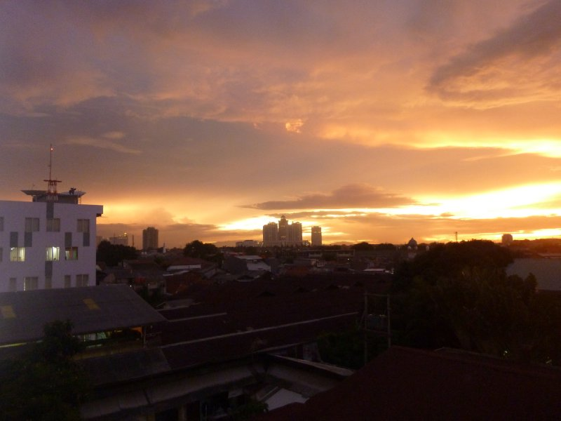 View from the Jakarta Post offices at sunset