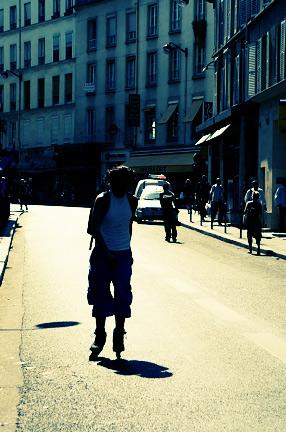 Street skating, Bastille, Paris