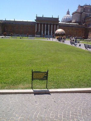 Vatican Oval - Lots of Clover but no training