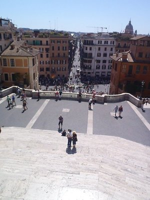 Looking down from the top to Piazza below