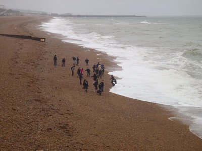 A quick dip into the English Channel