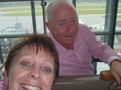 British Airways Business Lounge Heathrow waiting for our flight out