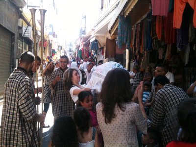 An engagement celebration in the Kasbah - see video
