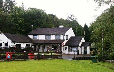 The cosy pub at our campsite in Cumbria, Lake District