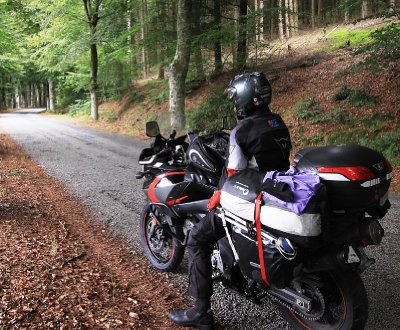 Beautiful riding in the French countryside
