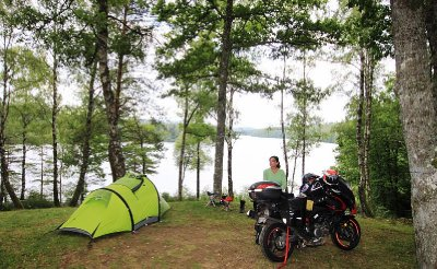 Our campsite at Lac De Viam (near the tiny village of Viam) in the Correze region - one of our favourite places in the world