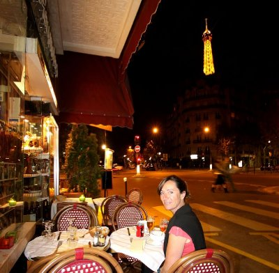 Dinner in Paris was supposed to be the real Parisian experience. Didn't realise it but we were in a Romanian cafe!