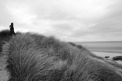 utah DDay beach - silent contemplation seemed appropriate here