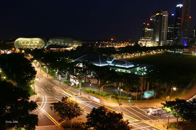 Night view to Esplanade