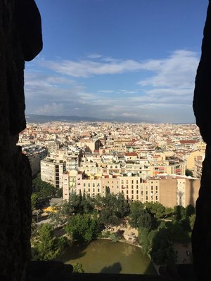 View from the Nativity Tower Sagrada Familia