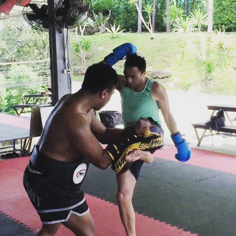 M helped improve my kick technique, so that I could fire a succession of hard kicks whilst maintaining balance, defence and momentum