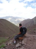 Looking out to Stok Pass