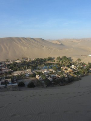 Huacachina from the dunes