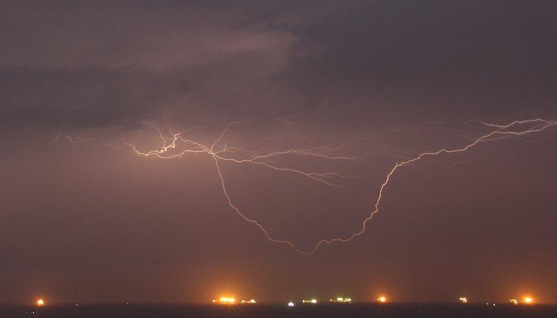 Lightning over Panama Bay