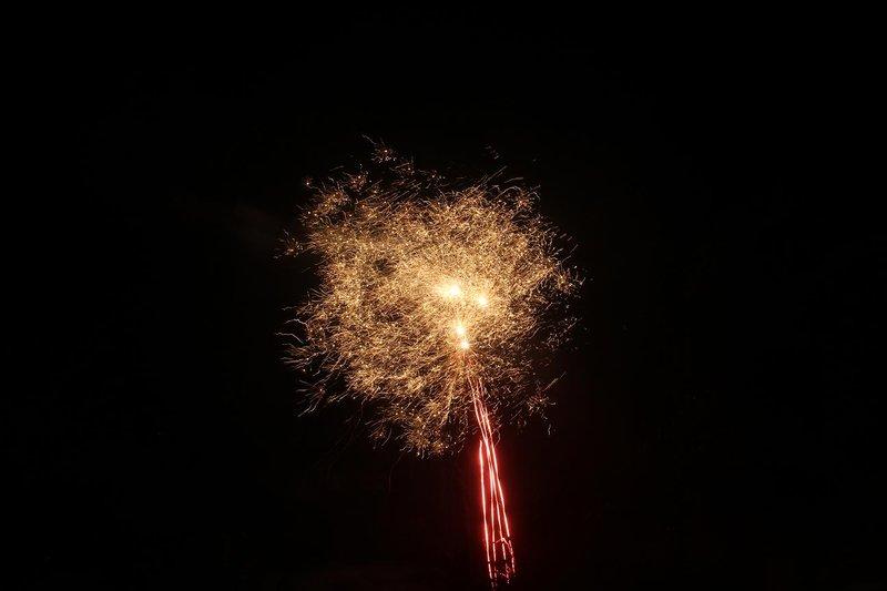 Fireworks on the beach