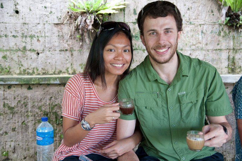Coffee and herbal tea tasting at the coffee plantation