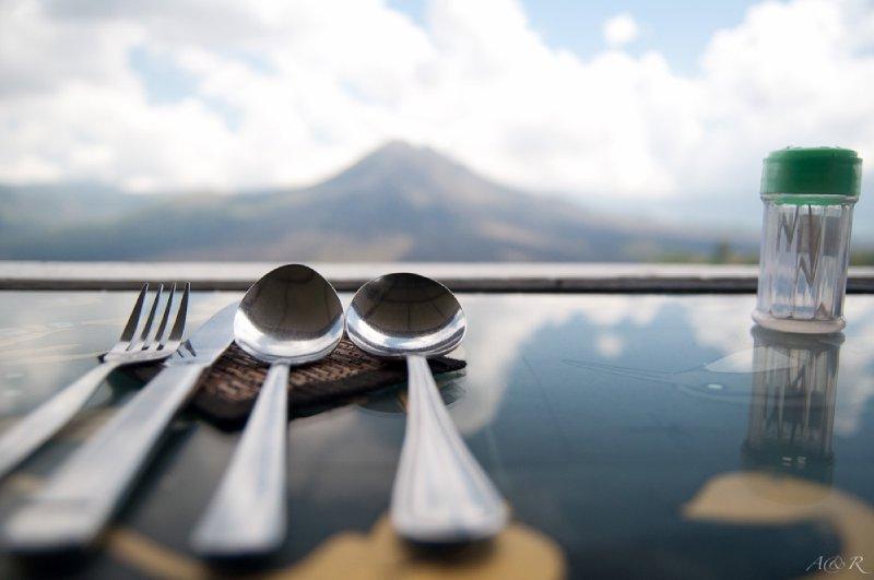 Breakfast at Batung Volcano