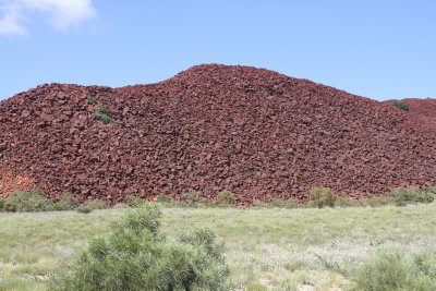 Amazing red hills containing aboriginal rock art