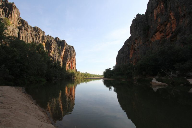 Windjana Gorge at sunset