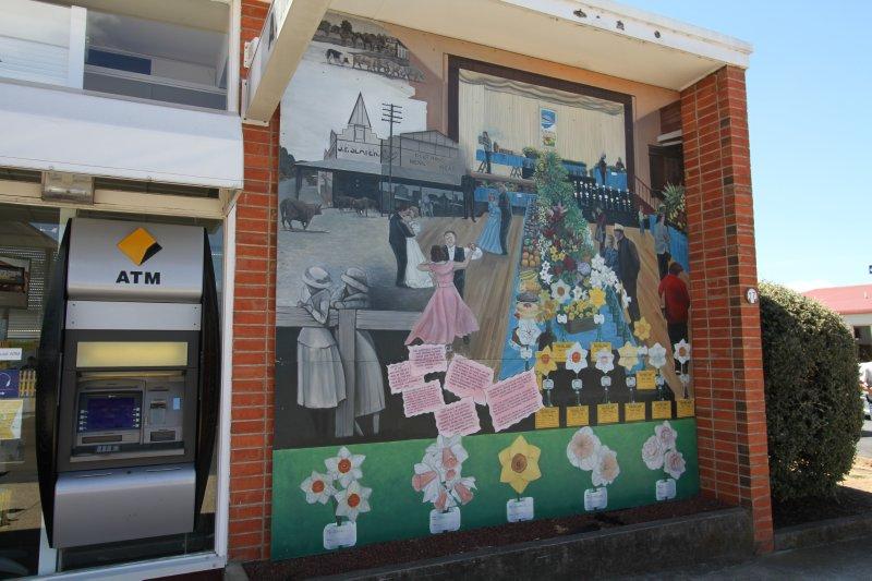 Bank mural in Sheffield