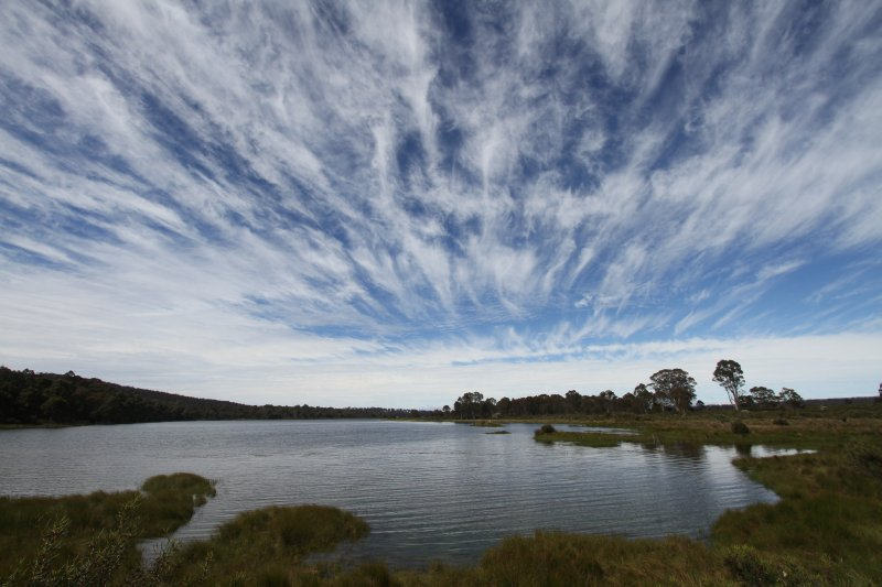 Bronte Lagoon at the centre of Tasmania