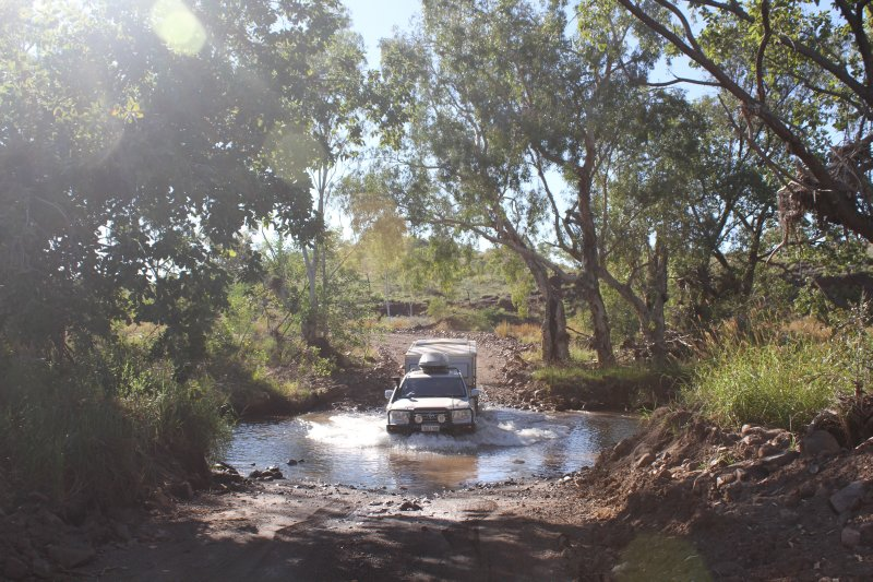Creek crossing on the way to Purnululu