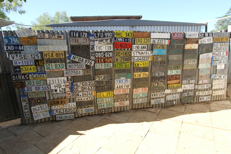 Daly Waters Pub licence plates