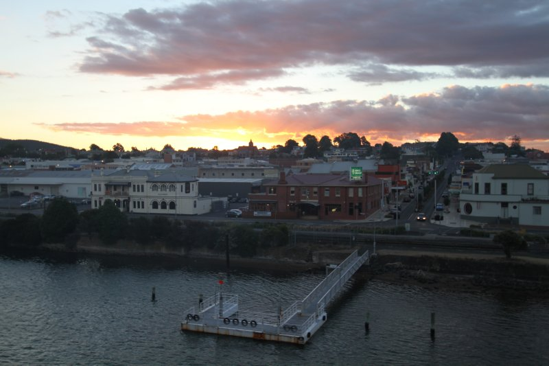 Devonport at dusk