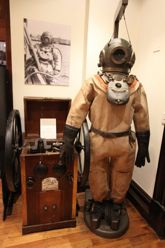 Diver suit in the Maritime Museum