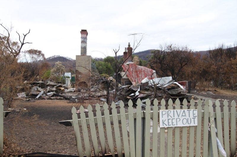 Dunalley bush fire ruins
