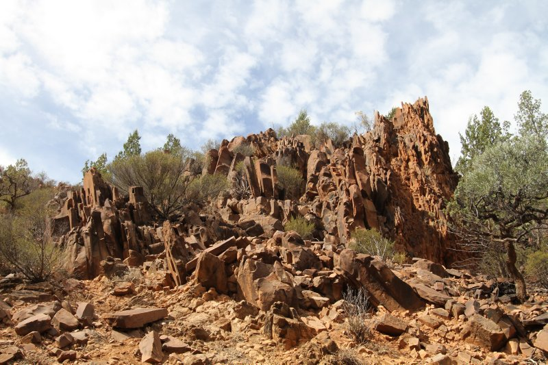 Eroded rocks at Sacred Canyon
