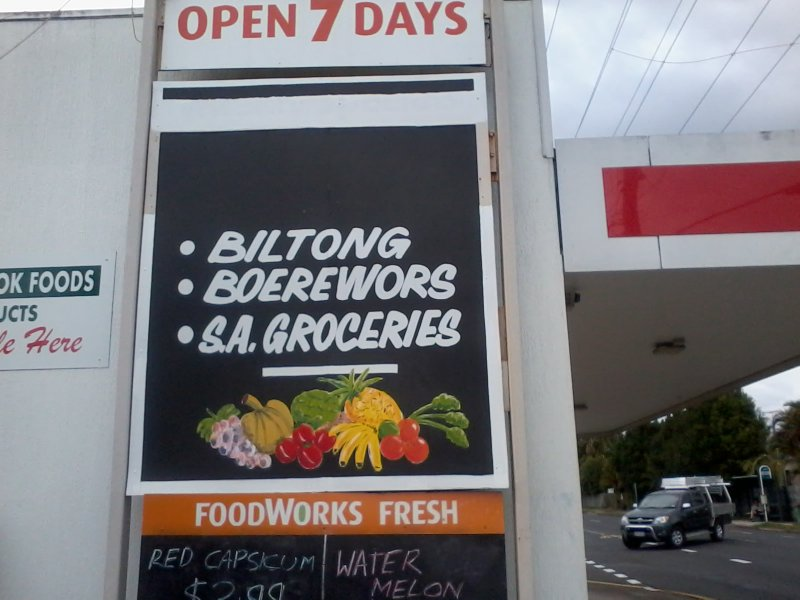 Foodworks sign