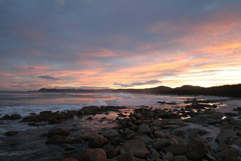 Friendly Beaches sunset