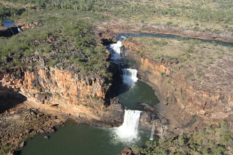 Mitchell Falls and Merten Falls from the helicopter