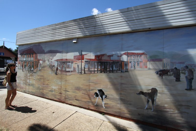Old Sheffield town mural