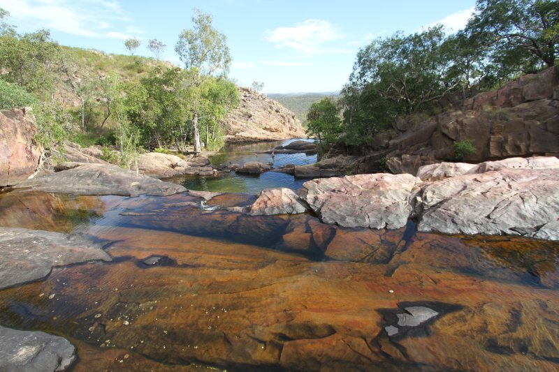 Pools on the top of Gunlom Falls