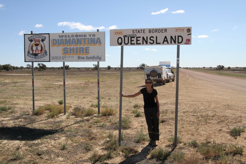 SA-Queensland border