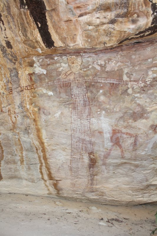 Quinkan Rock Art figure