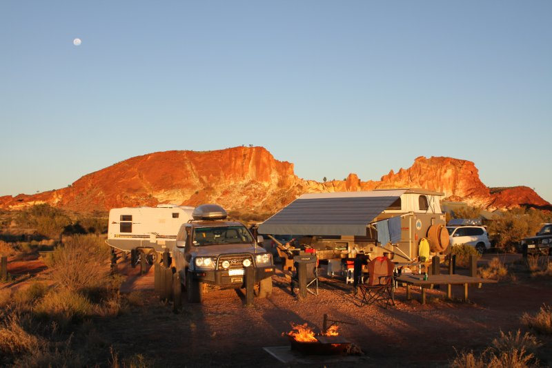 Rainbow Valley campsite